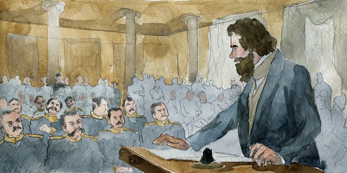 Адвокат Лев Толстой на защите рядового Шабунина