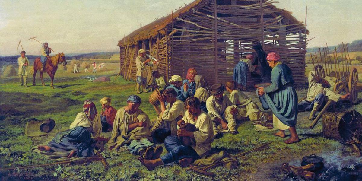Смотреть фото крепостных крестьян и их изб