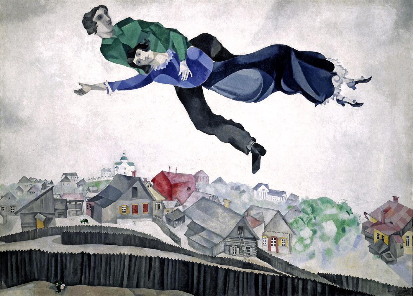 История одного шедевра: «Над городом» Шагала