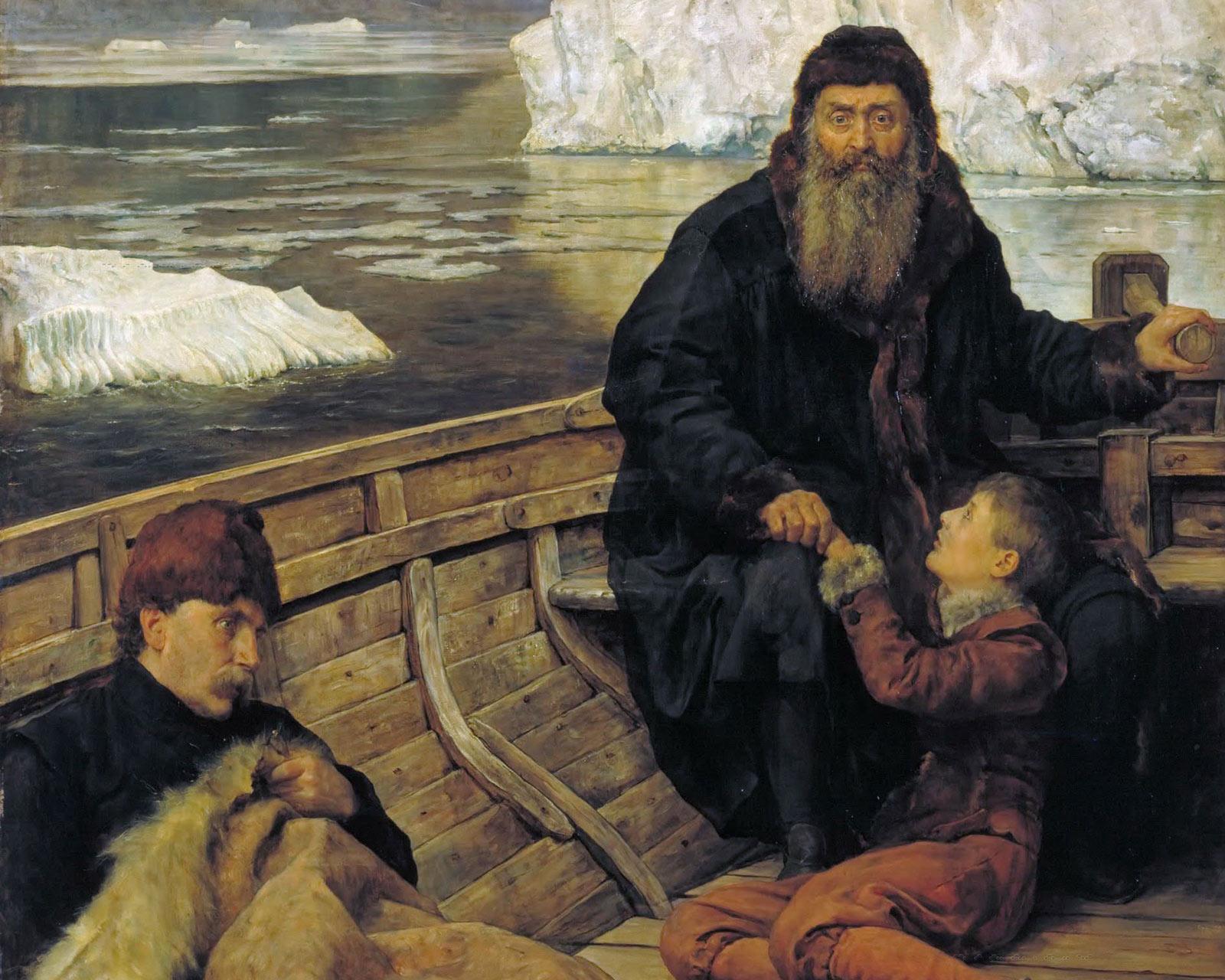 «Последнее путешествие Генри Хадсона», 1881. Джон Кольер.