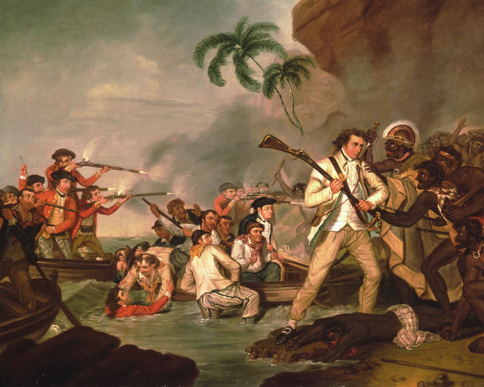 «Смерть капитана Джеймса Кука», 1783. Джордж Картер.