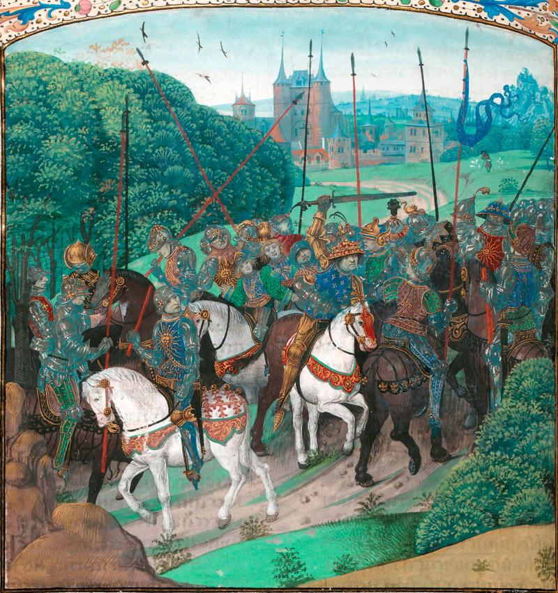 Карл VI убивает пажа.