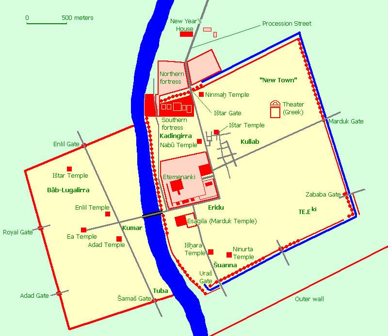 План основной части города.