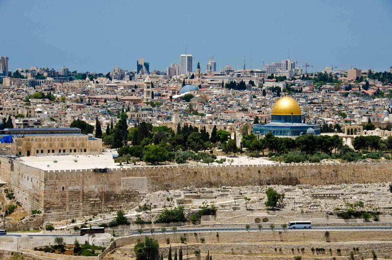 Вид на Храмовую гору.