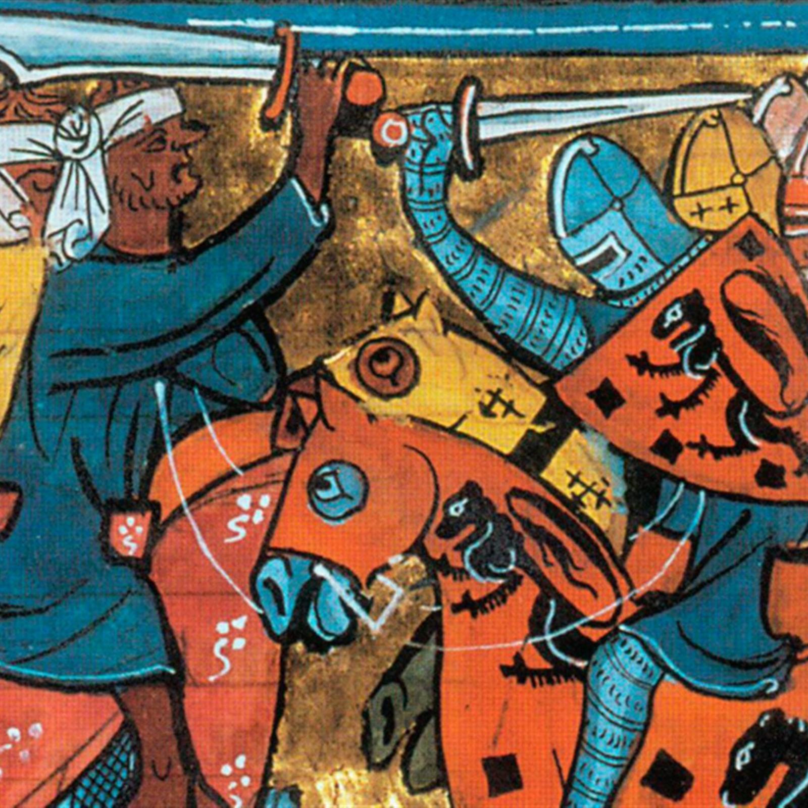 Битва крестоносцев с турками.