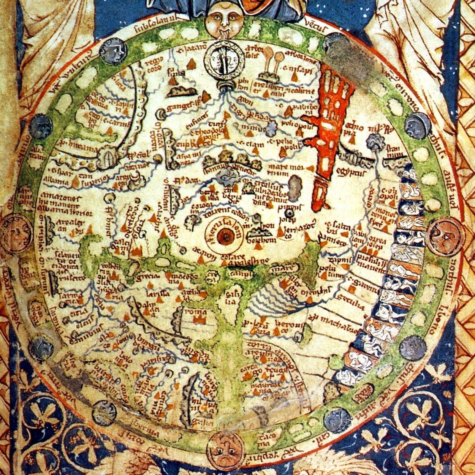 Карта Средневекового мира.