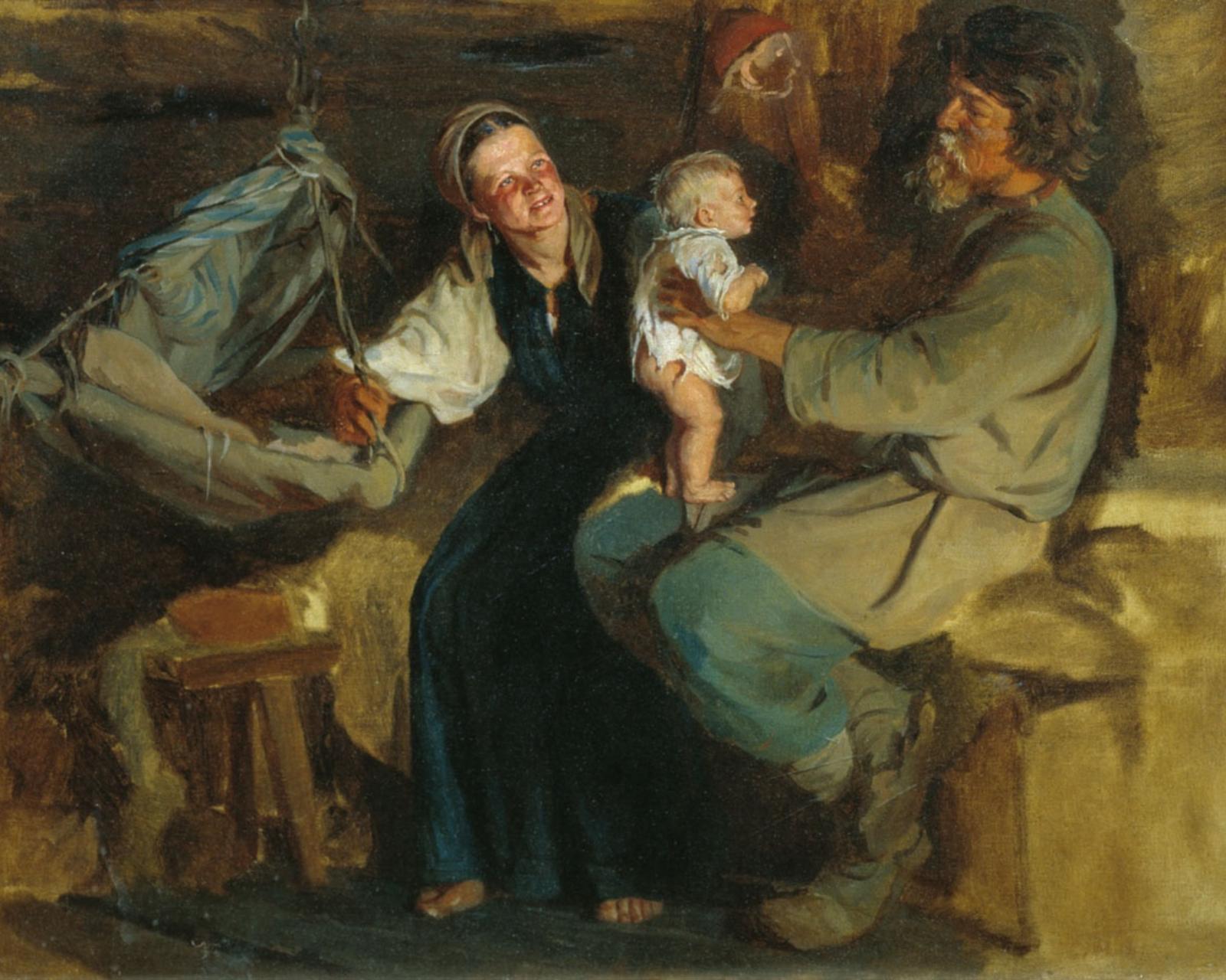 К. Лемох. Родительская радость. До 1910 г.