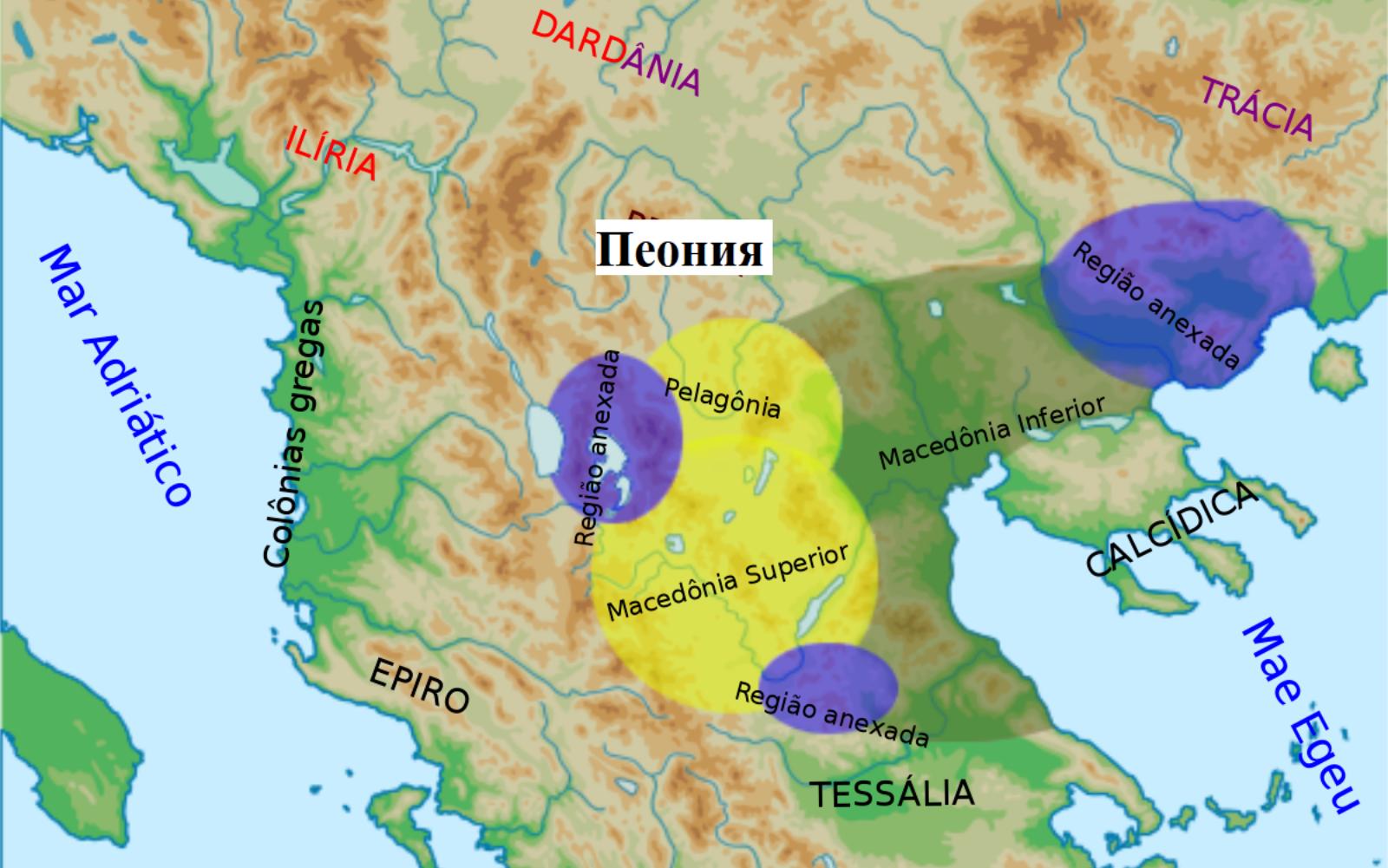 Македонское царство в 336 году до н.э.