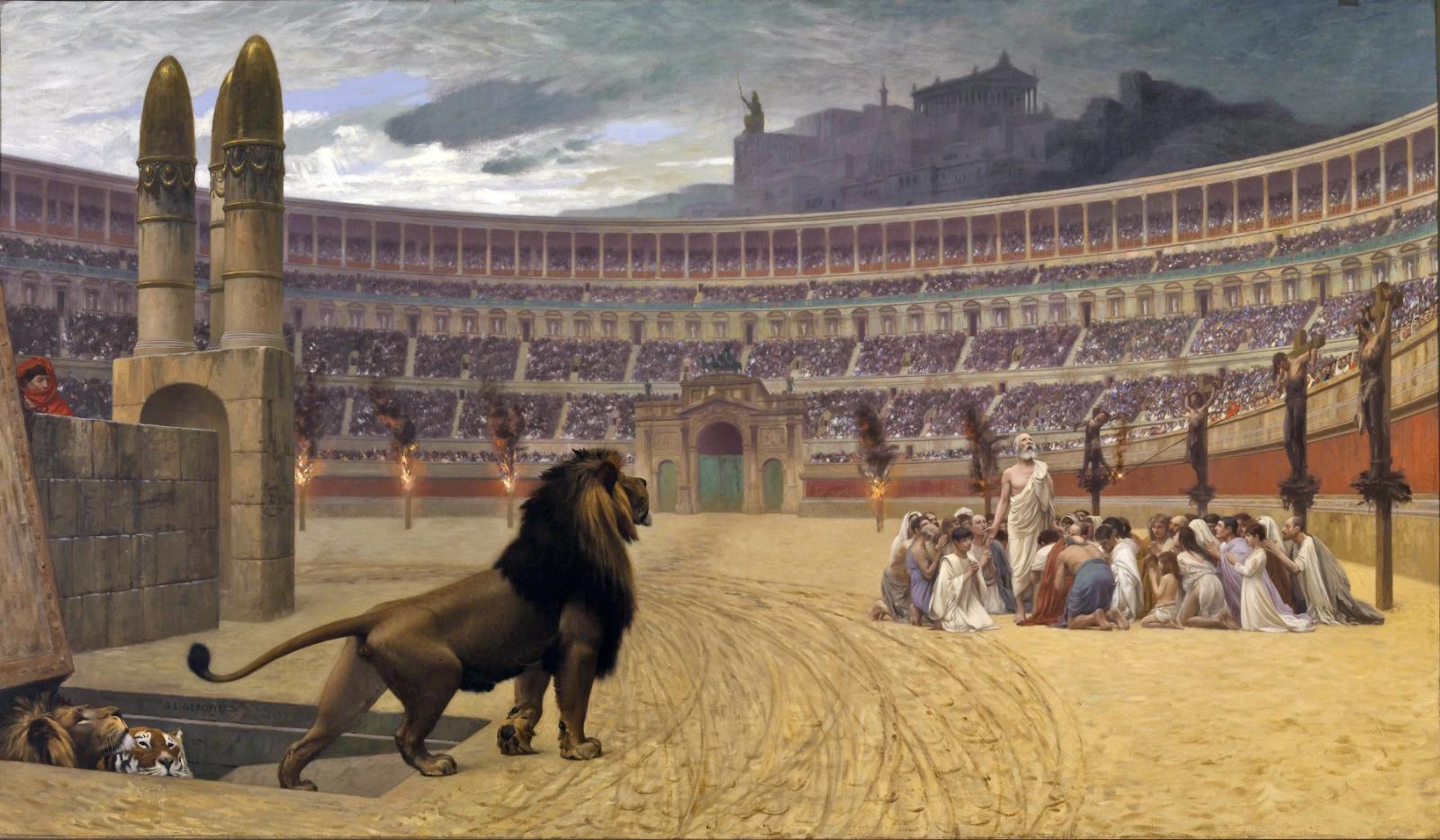 «Последняя молитва христианских мучеников». Жан-Леон Жером.