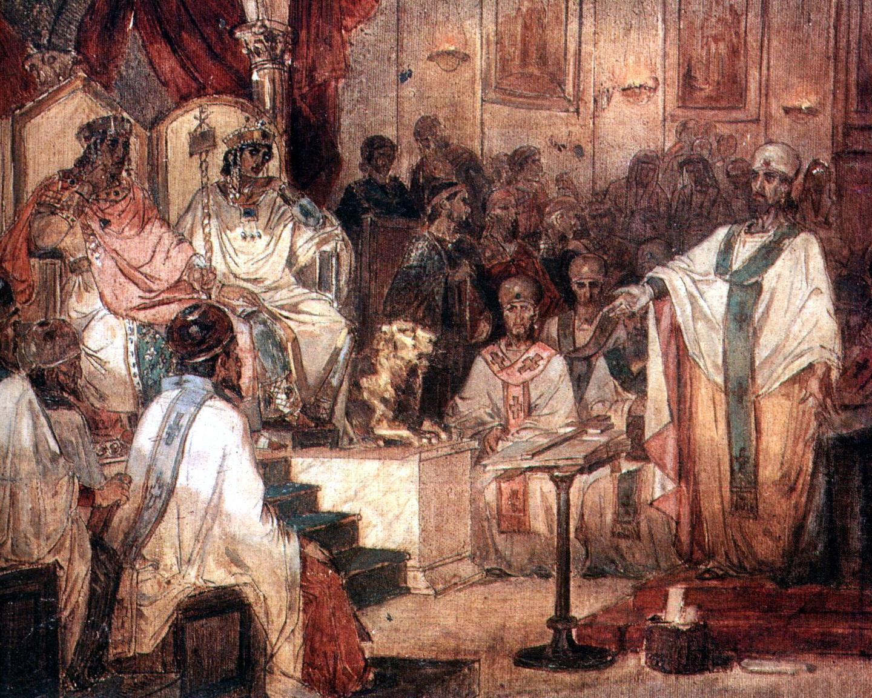 В. Суриков. Четвертый Вселенский Халкидонский Собор. 1876.