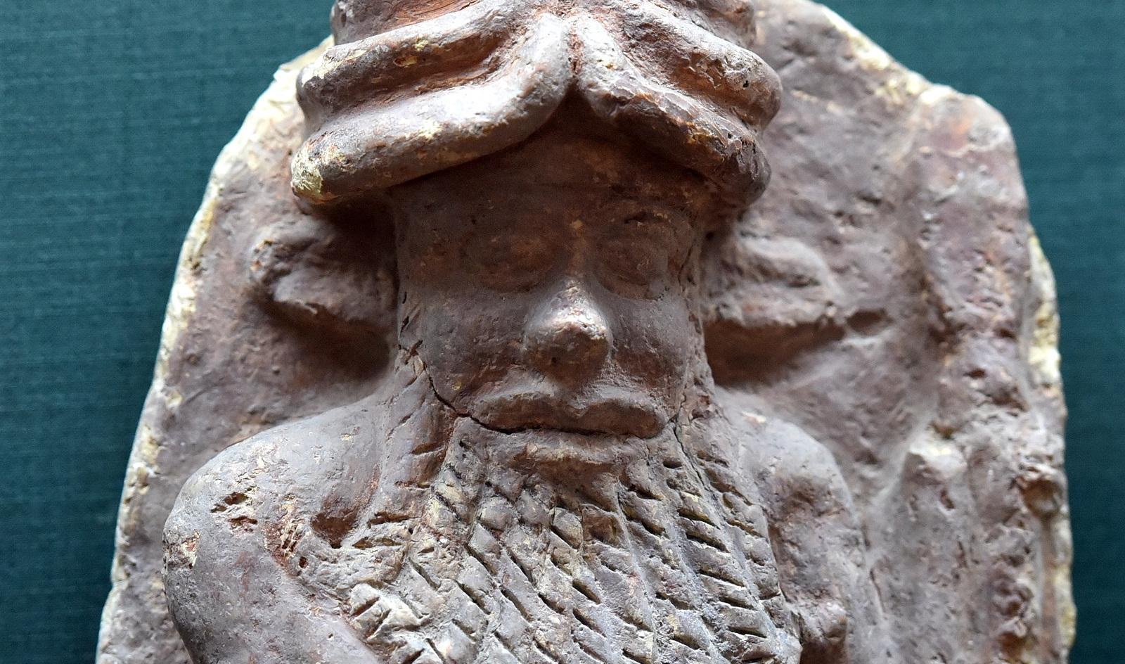 Энкиду – шумерская скульптура.