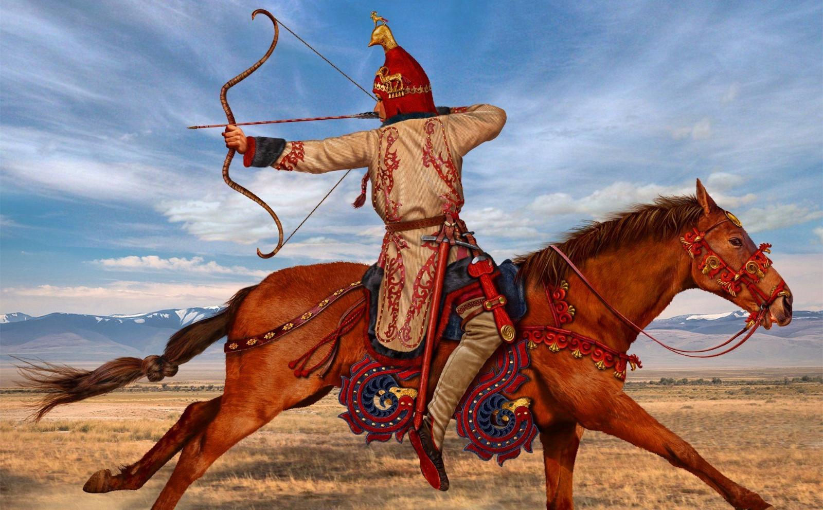 Массагетский конный лучник.