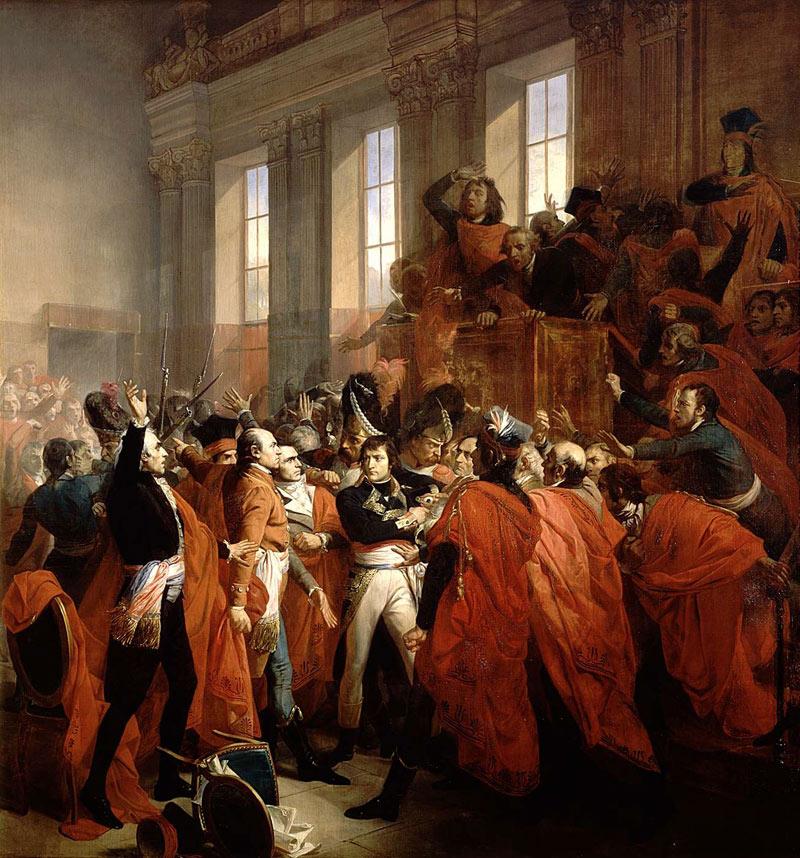 Наполеон во время переворота 18 брюмера.
