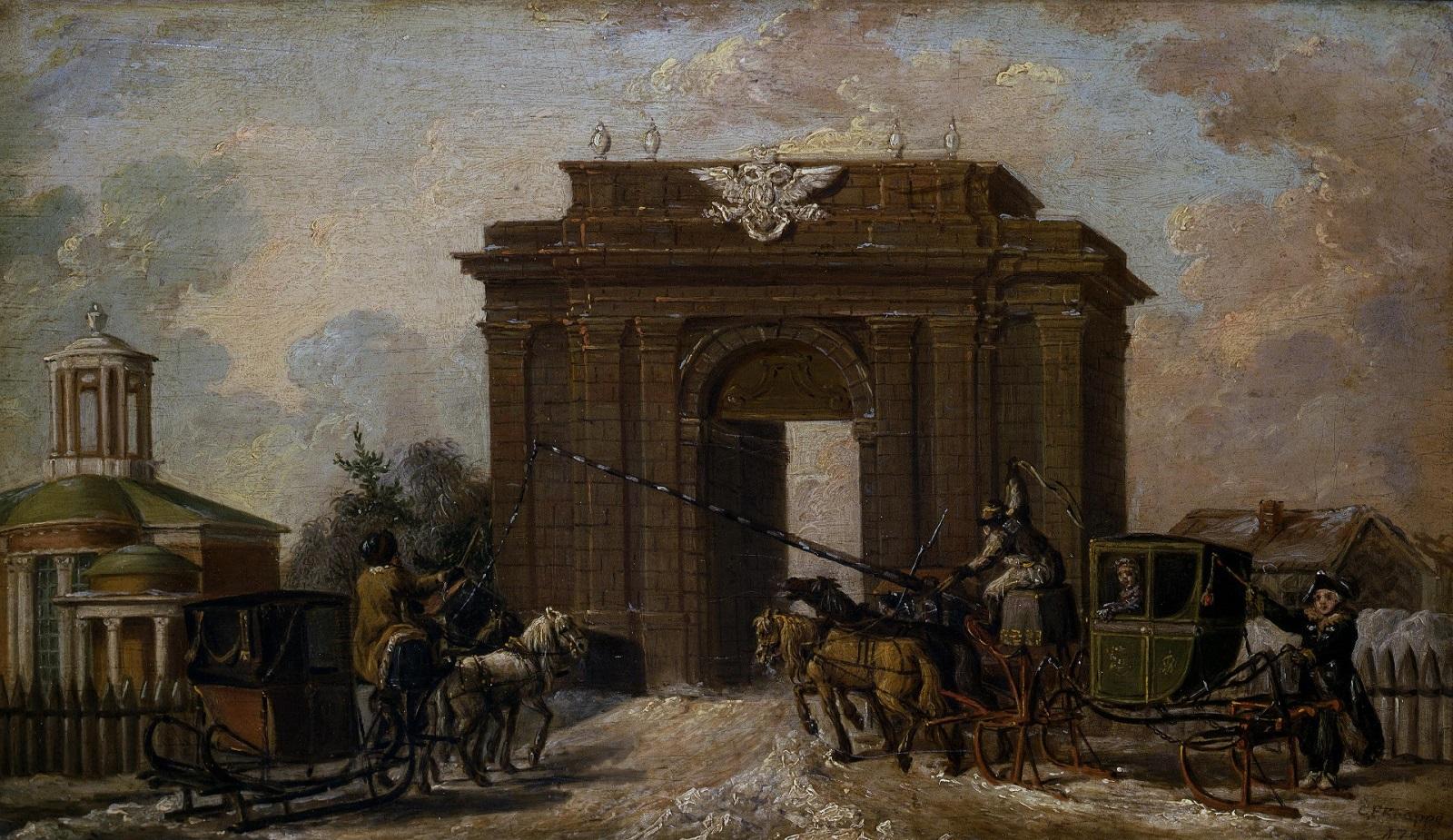 Екатерингофские ворота, построенные при Екатерине II.
