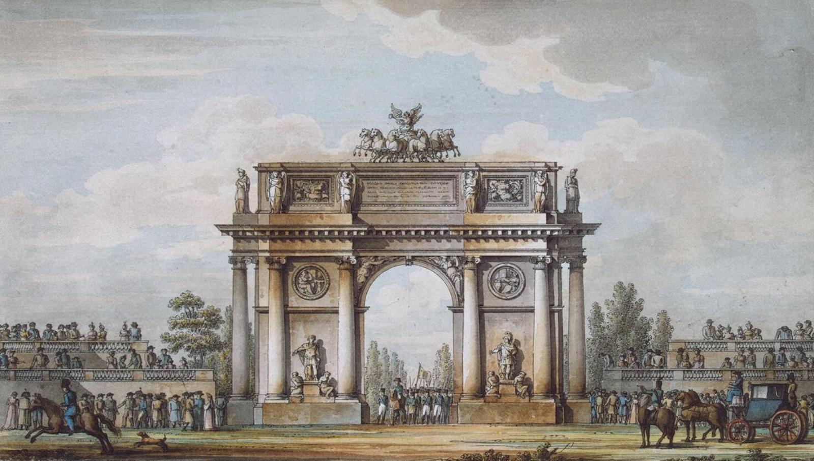 Триумфальная арка. Проект Кваренги.