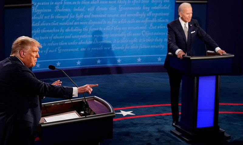 Дебаты Дональда Трампа и Джо Байдена.