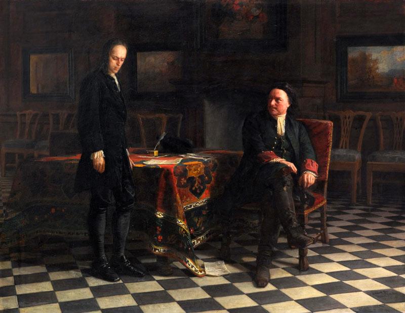 Н.Н. Ге. Петр 1 допрашивает царевича Алексея, 1871.