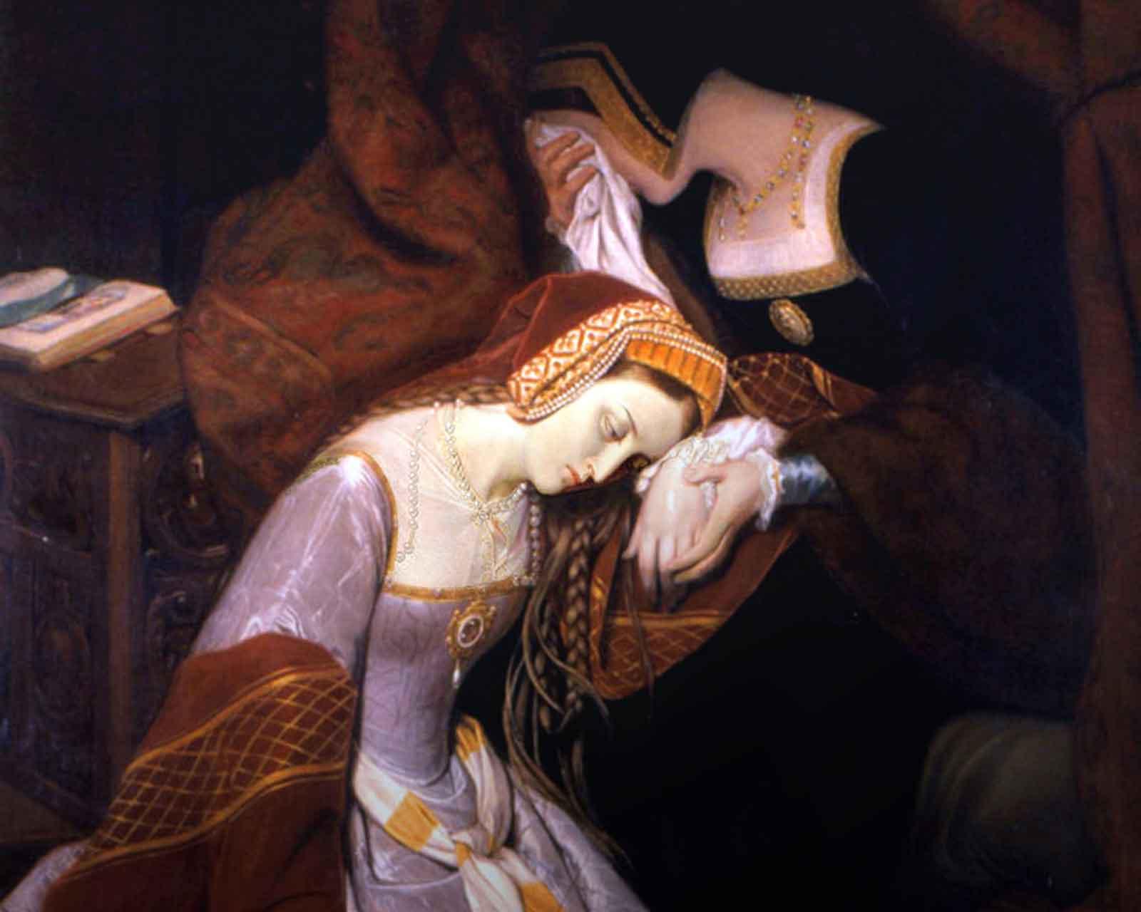 Анна Болейн в Лондонском Тауэре, 1835 г. Эдуар Сибо.