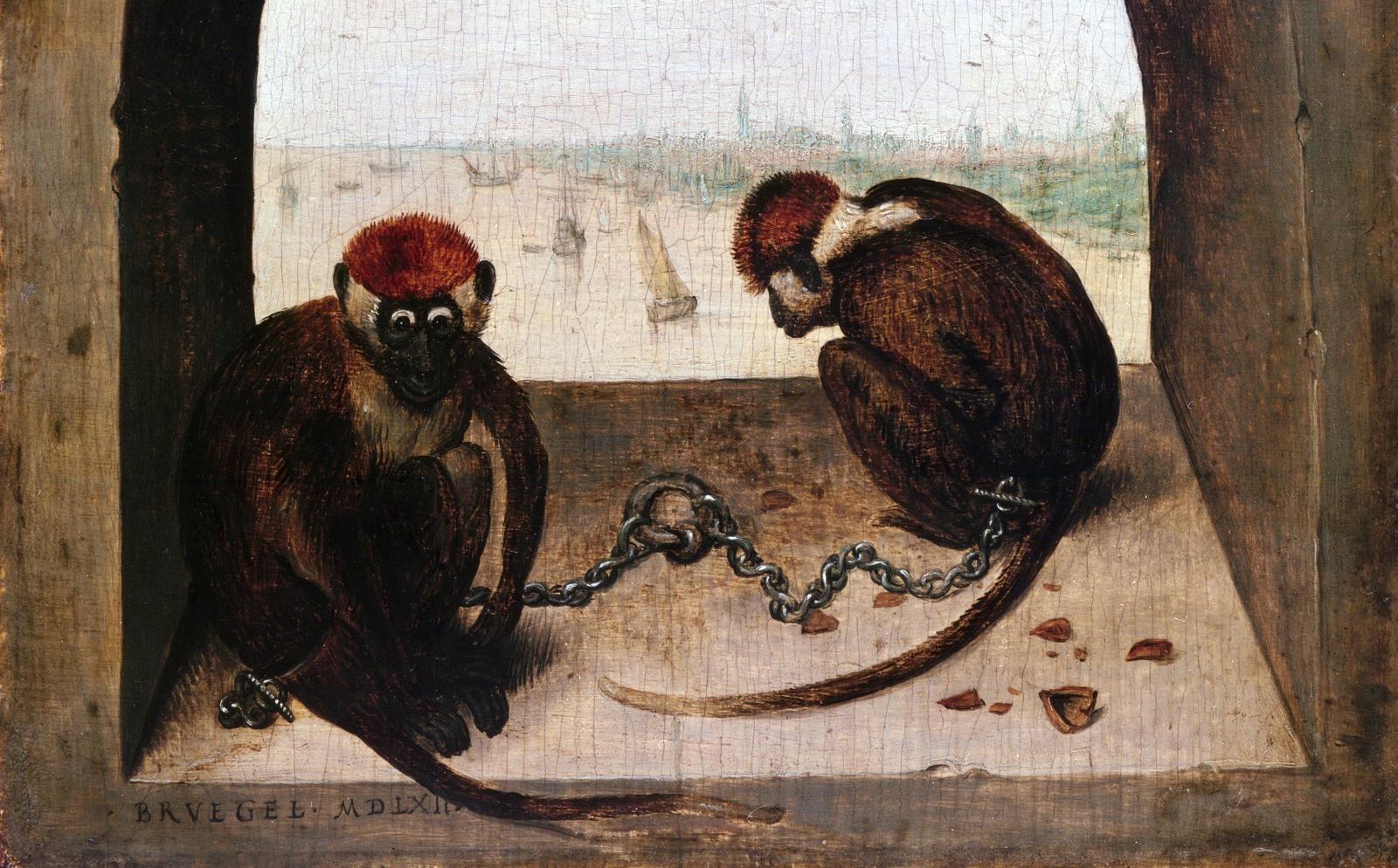 Питер Брейгель Старший. Две обезьяны, 1562.
