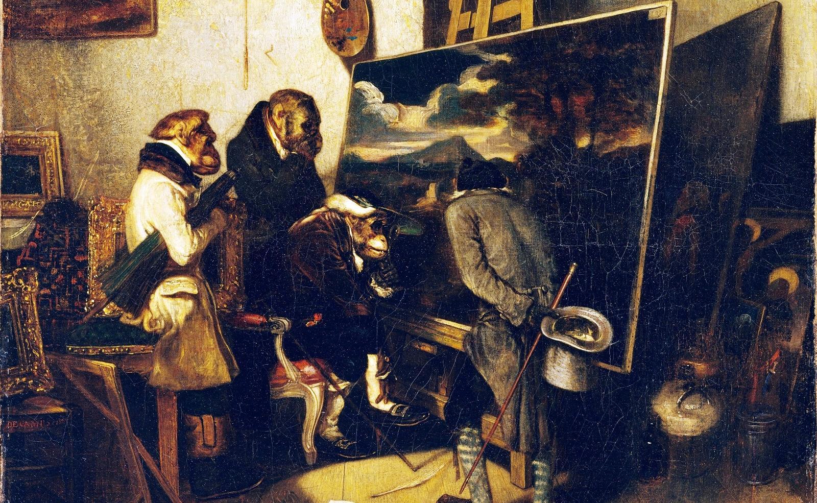 Александр-Габриэль Декан. Эксперты, или Ценители искусства, 1837.