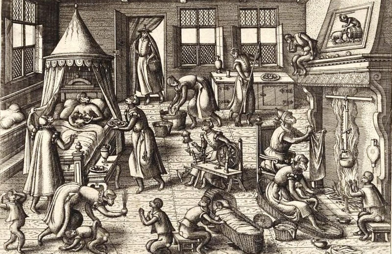 Питер ван дер Борхт. Питомник, ок. 1575.