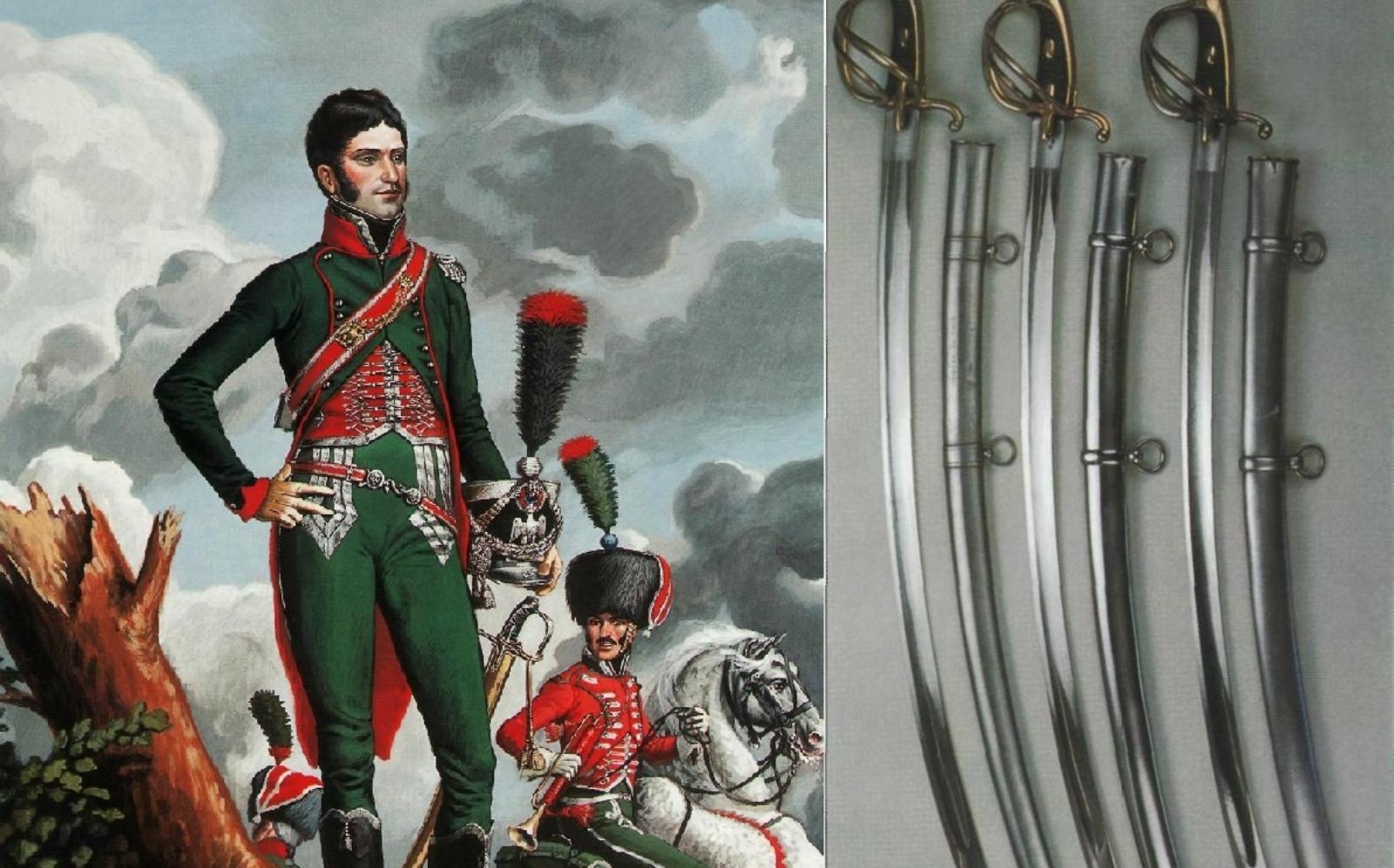 Конный егерь и сабли лёгкой кавалерии.