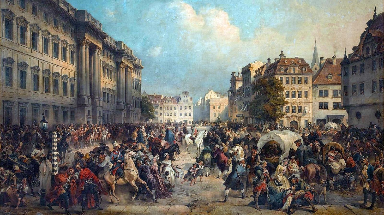 Русские войска в Берлине, 1760 год.