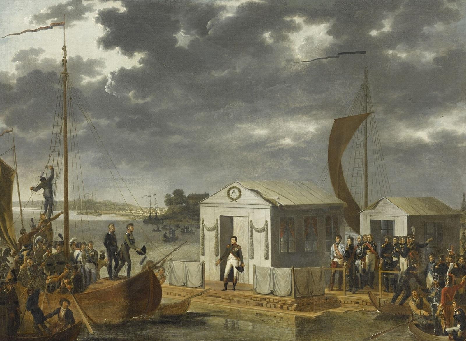Встреча императоров в Тильзите, 25 июня 1807 года.