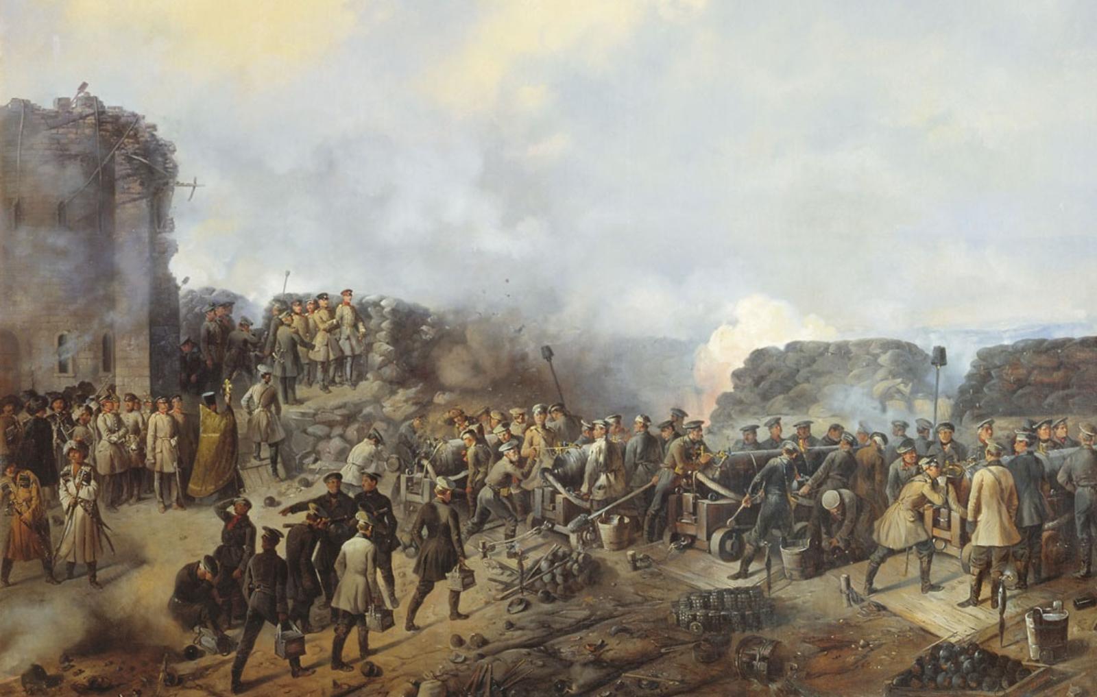 Бой на Малаховом кургане. Севастополь, 1855 год.