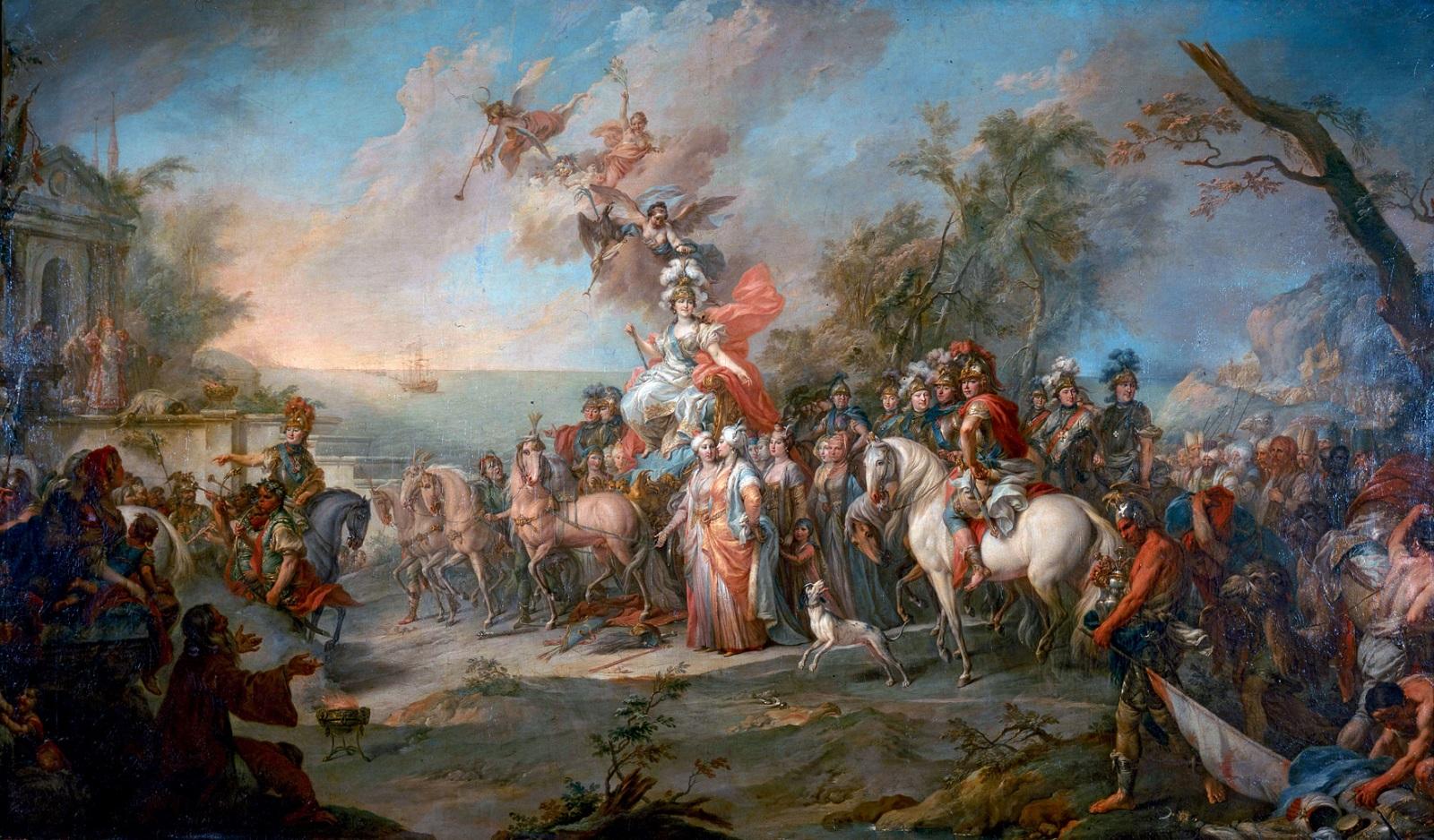 «Аллегория победы Екатерины II над турками и татарами» Стефано Торелли, 1772.