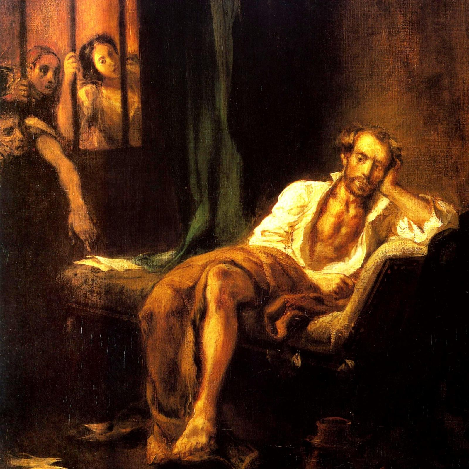 Эжен Делакруа. Тассо в больнице святой Анны, 1839.
