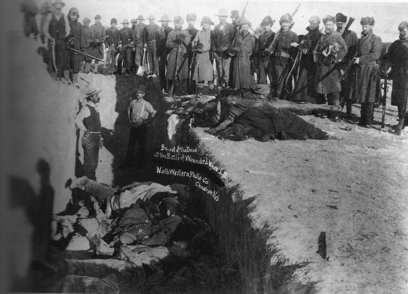 Захоронение погибших индейцев.