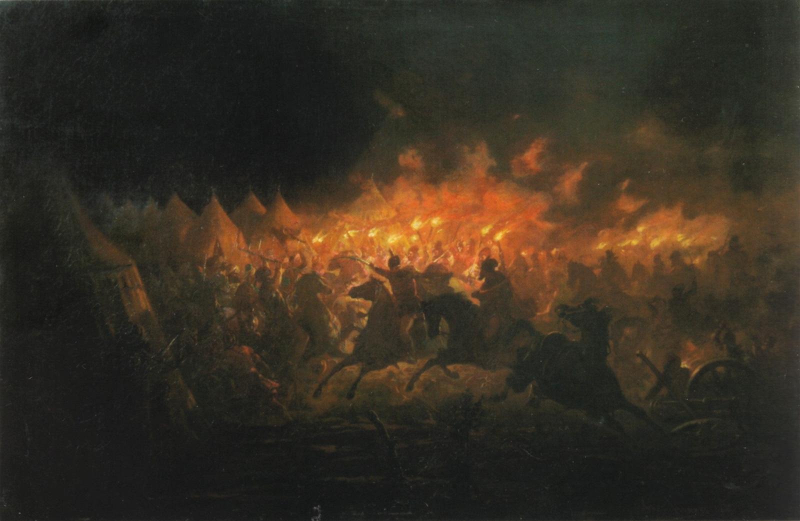 Налёт валахов на лагерь султана. Т. Аман. Источник: wikipedia.org