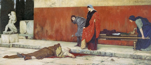 Смерть Нерона. Картина Василия Смирнова.