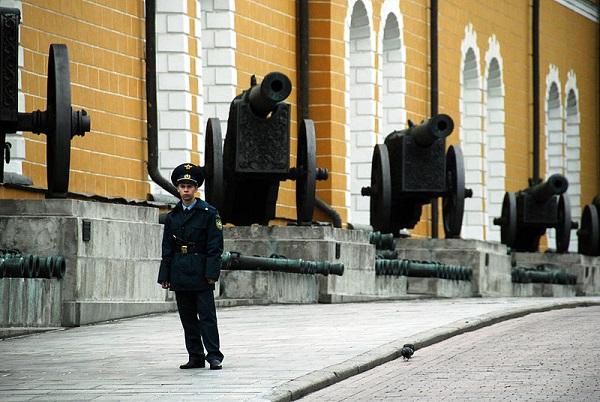 Москва. Захваченные у Великой армии Бонапарты орудия.