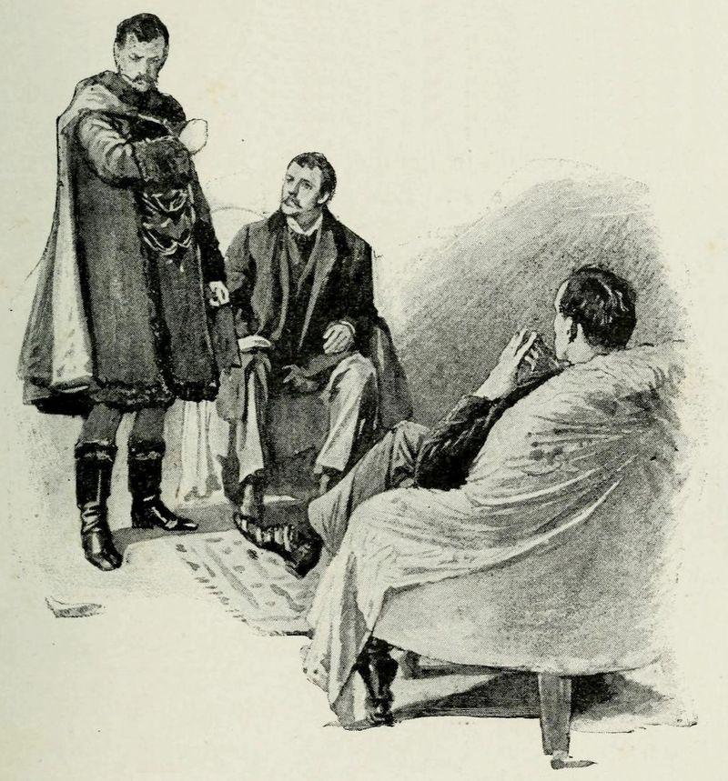 4. Иллюстрация к Скандалу в Богемии, единственному рассказу, где появляется Ирен Адлер.jpg