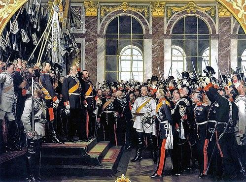 Торжественное провозглашение Вильгельма I императором вВерсале.