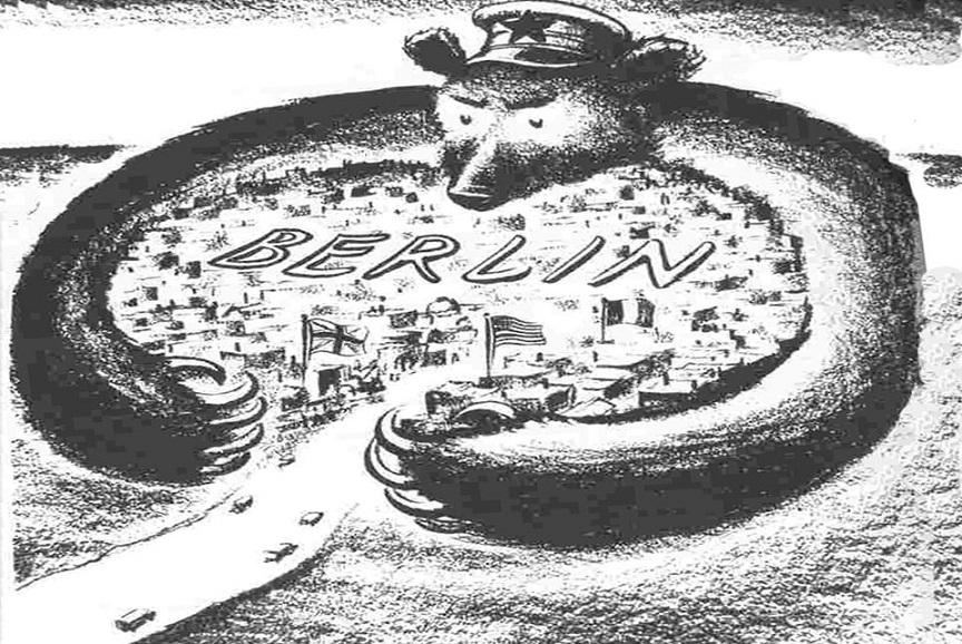 Американская карикатура 1948 года. <br>