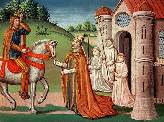 Карл Великий и папа Адриан I, 1493г.