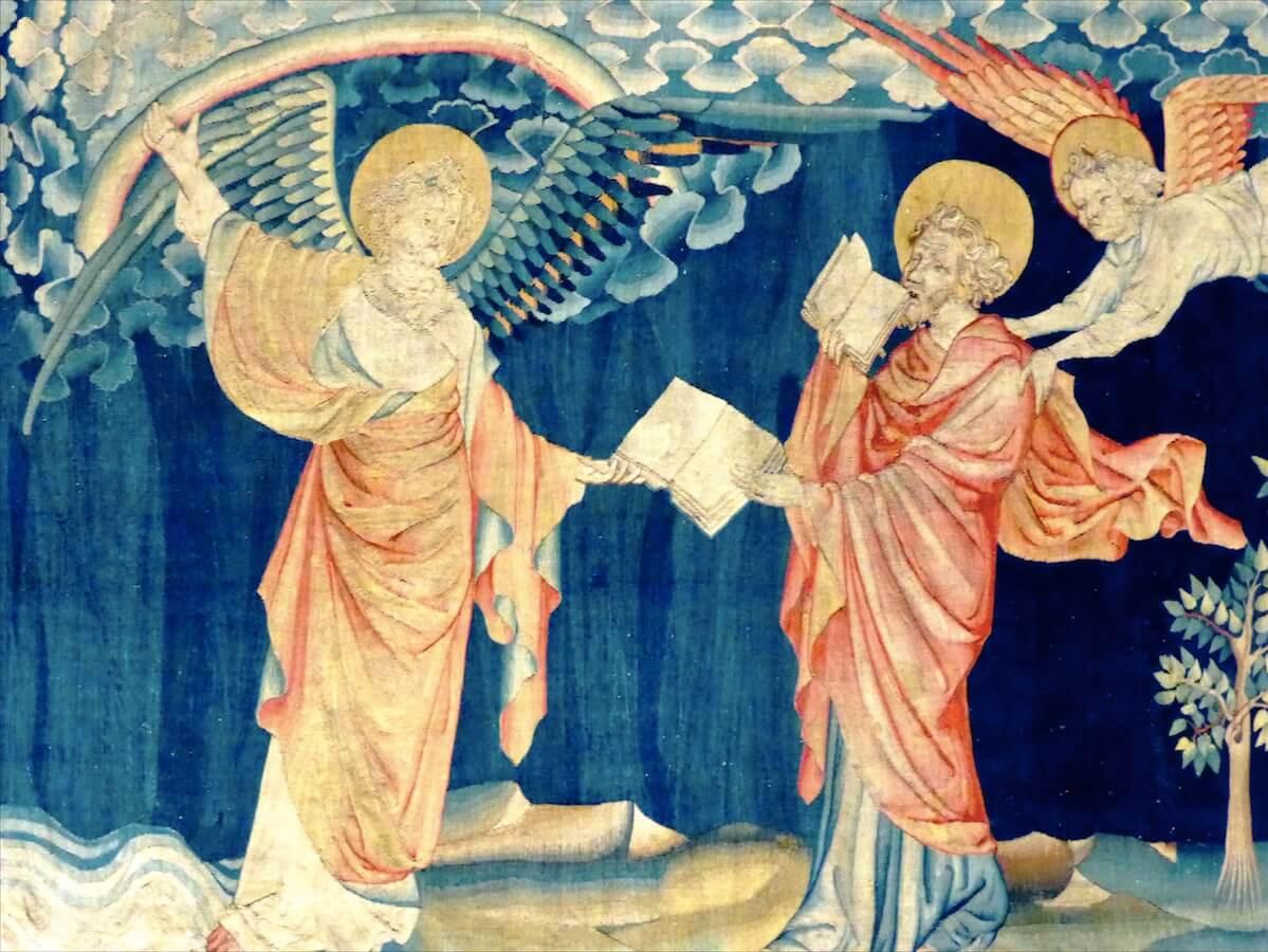 Фрагмент гобелена «Апокалипсис», изготовленного по заказу Людовика IАнжуйского, ок. 1375.