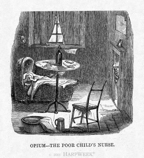 Иллюстрация «Опиум — нянька бедного дитя».