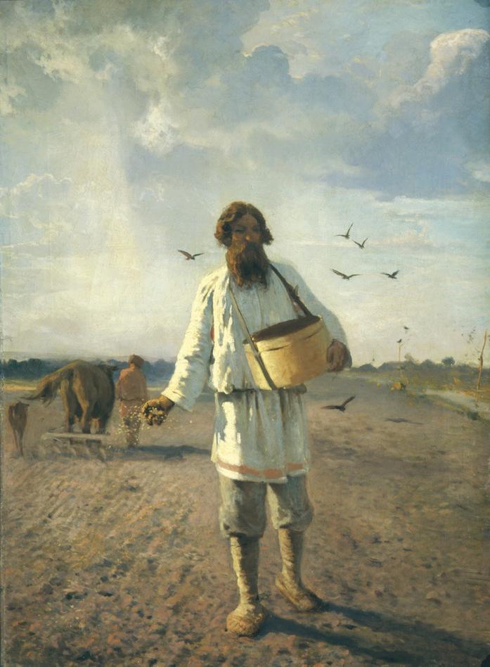 Сеятель. Худ. Григорий Мясоедов, 1888.