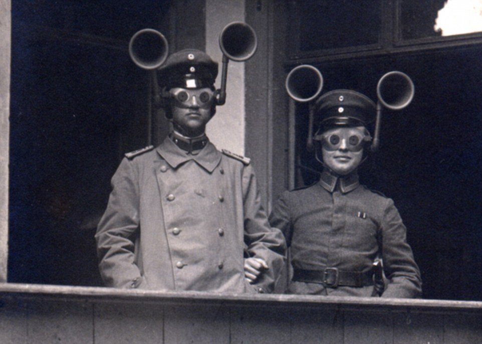3 This German audio-visual apparatus was designed to enhance the boom and flash of enemy artillery and thus help pinpoint gun positions..jpg
