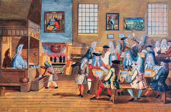 Первые клубы джентльменов в Англии.