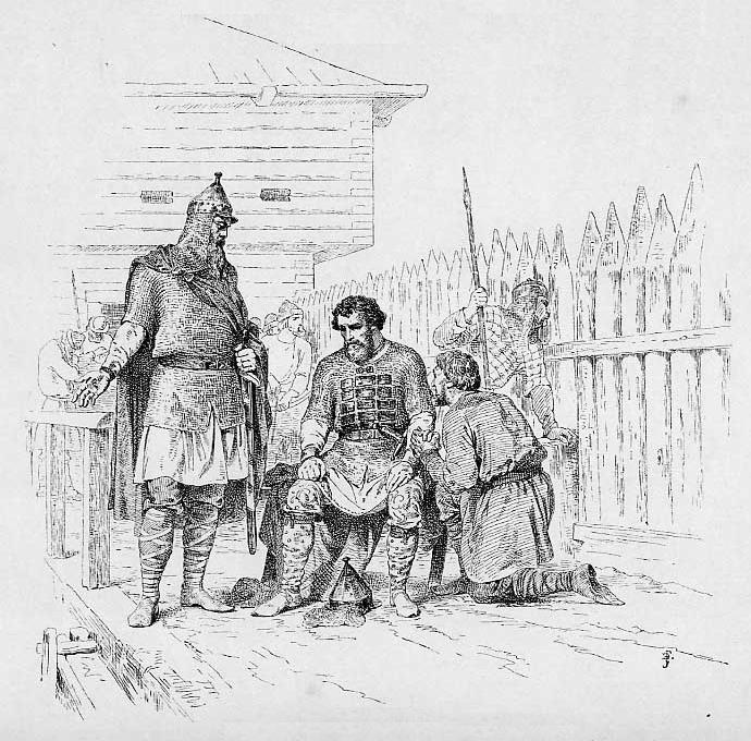 Ярополк Святославич в окружении дружины. <br>