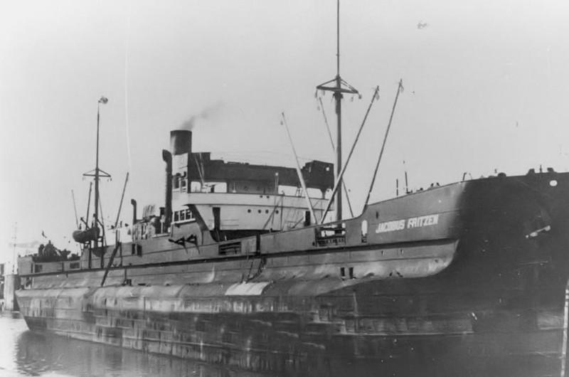 Германский транспорт «Якобус Фрицен», потопленный Д-2.