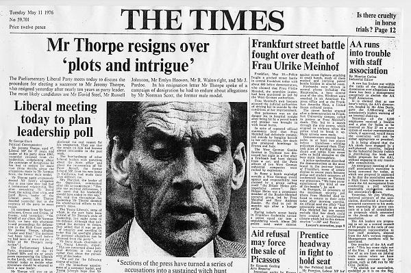 Новость об отставке Торпа.