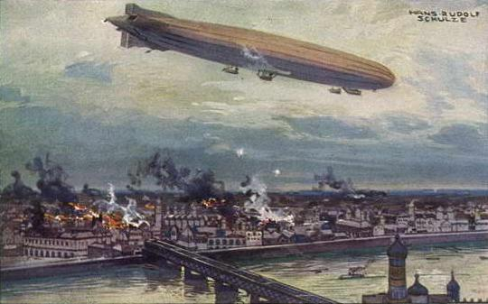 A German Zeppelin raids Warsaw in 1915..jpg