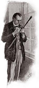 1. Шерлок Холмс с тростью доктора Мортимера.jpg