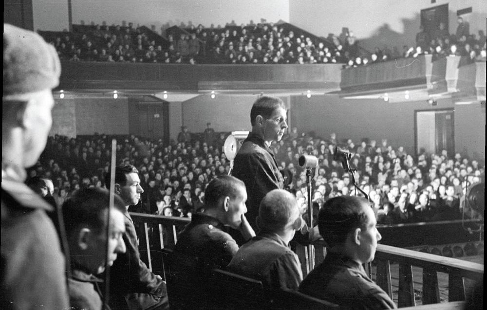 Подсудимые на Ленинградском процессе 1945г.